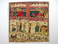 Balinese painting, cotton, condition: before conservation
