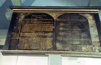 Ten Commandments (sign), wooden panel, condition: before conservation and restoration