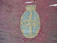Painting on banner, condition: before conservation