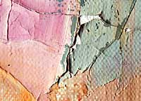 Example flaking, the loss of small sections of the paintlayer